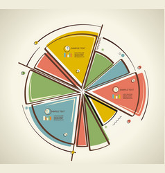 flat design business pie chart vector image