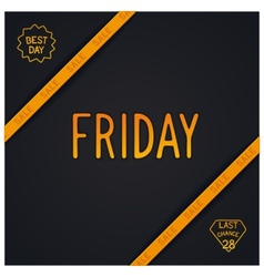 Friday lettering design vector image