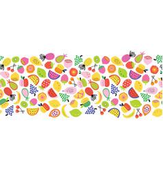 fruit seamless border repeating horizontal vector image