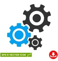 Gear Mechanism Eps Icon vector
