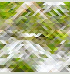 Green brown and white abstract geometry pattern vector