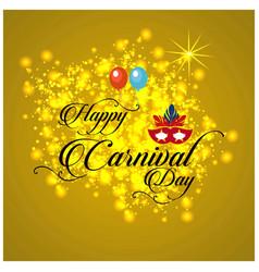 Happy brazilian carnival day creative carnival vector