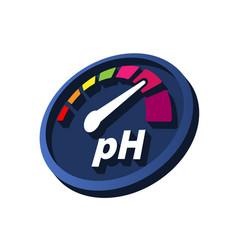 Increase ph perspective round volumetric vector