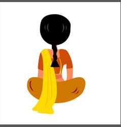 Indian women character design women sitting vector