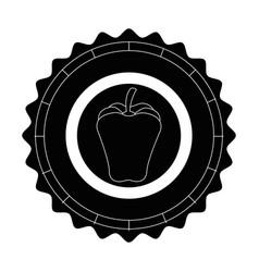 Isolated apple round icon vector