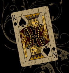king of spades vector image