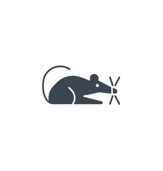 laboratory mouse related glyph icon vector image