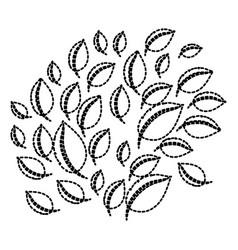 leaf design sticker vector image