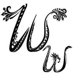 letter W w vector image