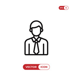 Male student icon vector