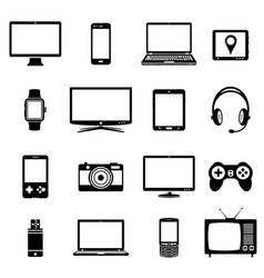 Modern electronic gadgets icons vector