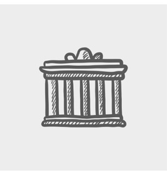 National library sketch icon vector