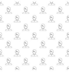 new female avatar pattern seamless vector image