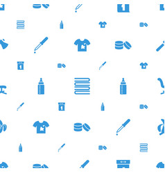 Nobody icons pattern seamless white background vector