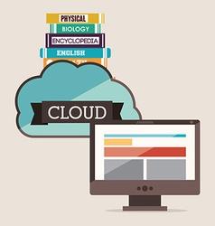 Online bookstore vector