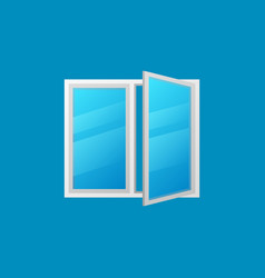 open window colorful icon on blue vector image