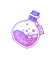 poison bottle colorful sketch vector image