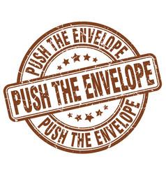 Push the envelope brown grunge stamp vector
