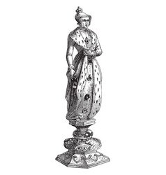 Queen chess piece vintage vector
