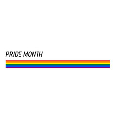 Ribbon or banner with flag of lgbt pride vector