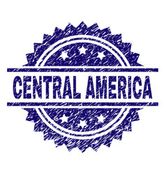 scratched textured central america stamp seal vector image