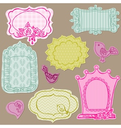 Set of Cute Doodle Frames vector image