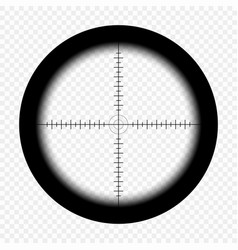 Sniper scope with measurement marks hunter rifle vector