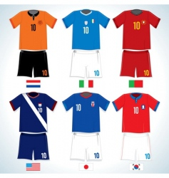 soccer uniforms vector image