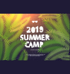 summer holiday and travel themed summer camp vector image