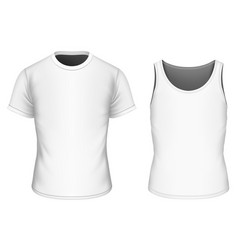 t-shirt and singlet for boys vector image