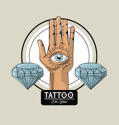 Tattoo studio old school vector