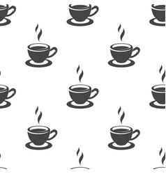 Tea cup seamless pattern vector