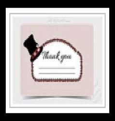 Thank you Note - Hatter Hat from Wonderland vector image
