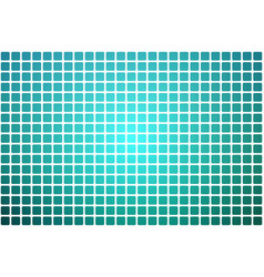 Turquoise shades abstract rounded mosaic vector
