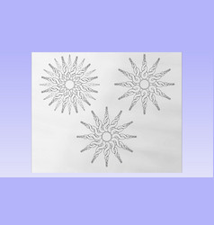 Twirly suns vector