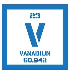 Vanadium chemical element vector