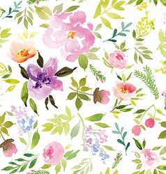 Watercolor flower pattern vector