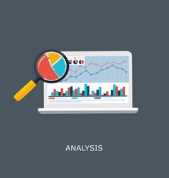 Web analytics information and development website vector