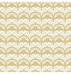 White and gold lace seamless stripes pattern vector image vector image