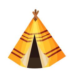 Wigwam as thanksgiving historical feast symbol vector