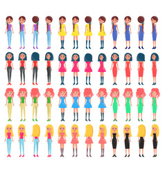 woman constructor collection vector image