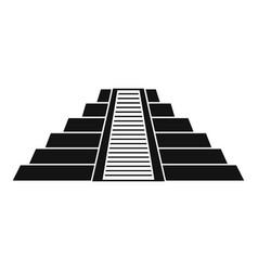 Ziggurat in chichen itza icon simple style vector