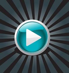 abstract play button design vector image vector image