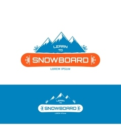 Learn to Snowboard vector image vector image