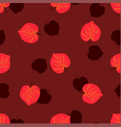 seamless pattern with hand drawn autumn leaves on vector image