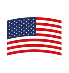 flag united states of america wave in design vector image