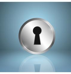 Metal keyhole icon vector