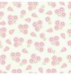 Vintage romantic flower seamless pattern vector