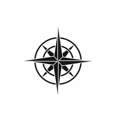 Ancient compass icon simple style vector image
