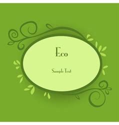 Eco card vector image